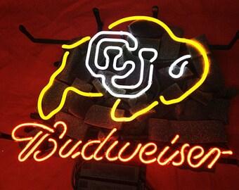 Budweiser CU Buffs Colorado Buffalos Pub Neon Sign Beer #0: il 340x270 hzes