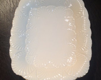 Vintage Lenox  square deep  platter with handle 24k Gold trim