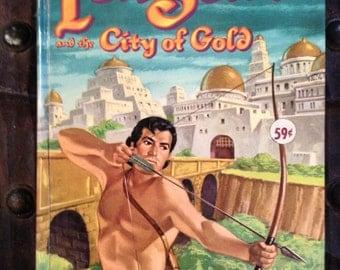 Vintage 1954 Edgar Rice Burroughs' Tarzan and the City of Gold Whitman Abridged Edition