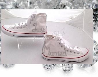 Just Married Shoes Wedding Converse Honeymoon Chucks Unique