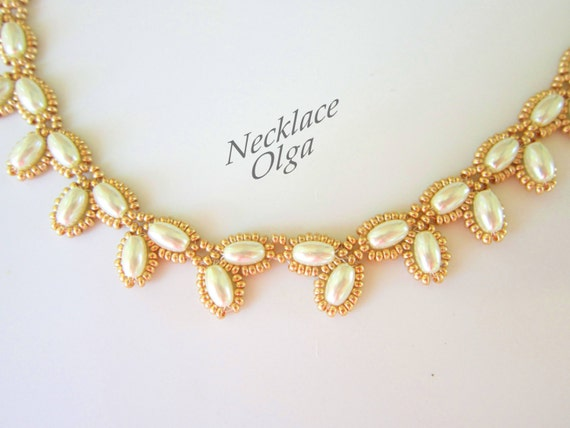 pdf beaded necklace olga easy pattern seed