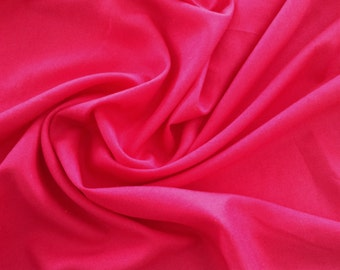 3 Yards Hot Pink Cotton Linen Blend