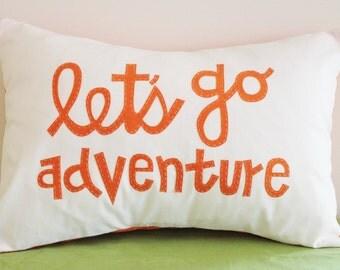 Let's Go Adventure Pillow Cover- 12x16