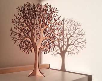 Lasercut Wooden Tabletop Tree #1