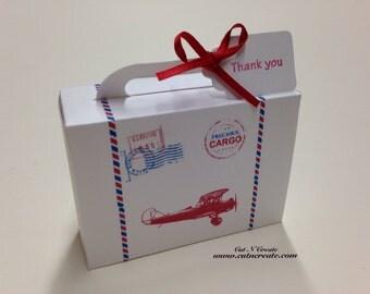 Precious Cargo Suitcase Favor Box Baby Shower Favors Suitcase Favors White