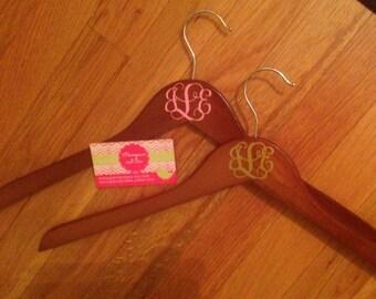 Monogrammed Wooden Hanger