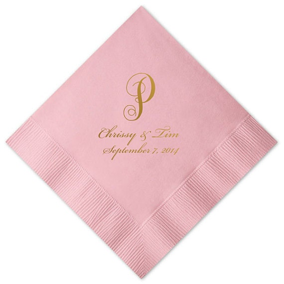personalized napkins wedding napkins custom monogram printed napkins