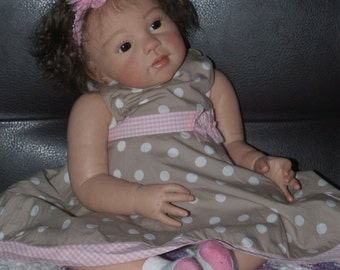 CUSTOM Reborn Baby Boy or Girl LOUISA by Jannie De Lange TODDLER Glass Eyes, Mohair or Real Human Hair
