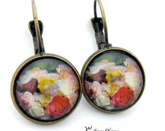 "Antique Bronze Earrings ""Rosas"""