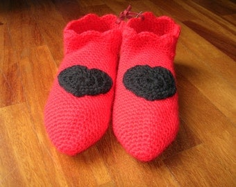 Red LOVE booties