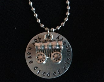 RETIRING! Oregon Trail inspired Hand Stamped Necklace