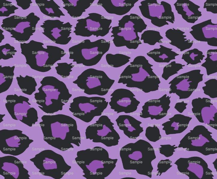 Purple Cheetah Print - Background Birthday - Edible Cake ...