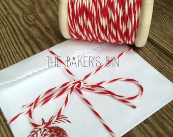 10 Yards ~ 14-Ply Thick 100% Cotton Baker's Twine / String Cone ~ Bakery String • Box String • Packaging • Made In USA • Extra Thick