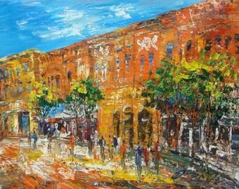 Block of Main Street, Miles City Montana-Pen King -7203