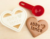 Heart Cookie Cutter Personalized Wedding Cookie Cutter Heart Shaped