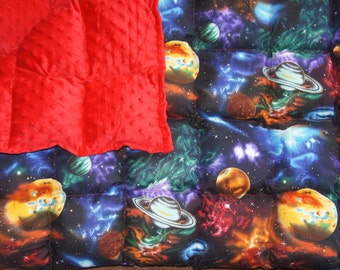 Fleece or Minky Weighted blanket Medium (40x62) Available in Multiple Fabrics