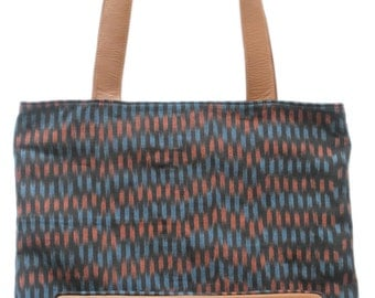Ida Ikat & Leather Tote Bag