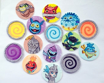 Skylanders Swap Force Inspired Cupcake Toppers