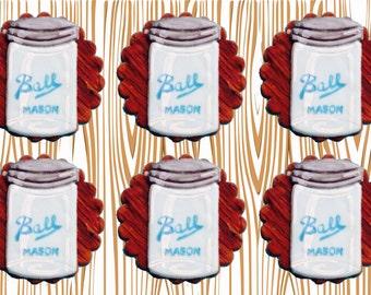 Fondant Mason Jar Cupcake Toppers