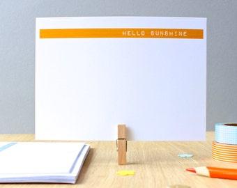 Hello Sunshine Printed Notecards Set