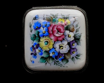 Rectangular Floral Jewelry Box