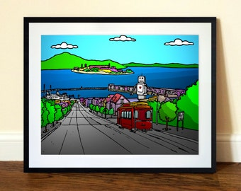 San Francisco Art Print  - A3 Limited Edition