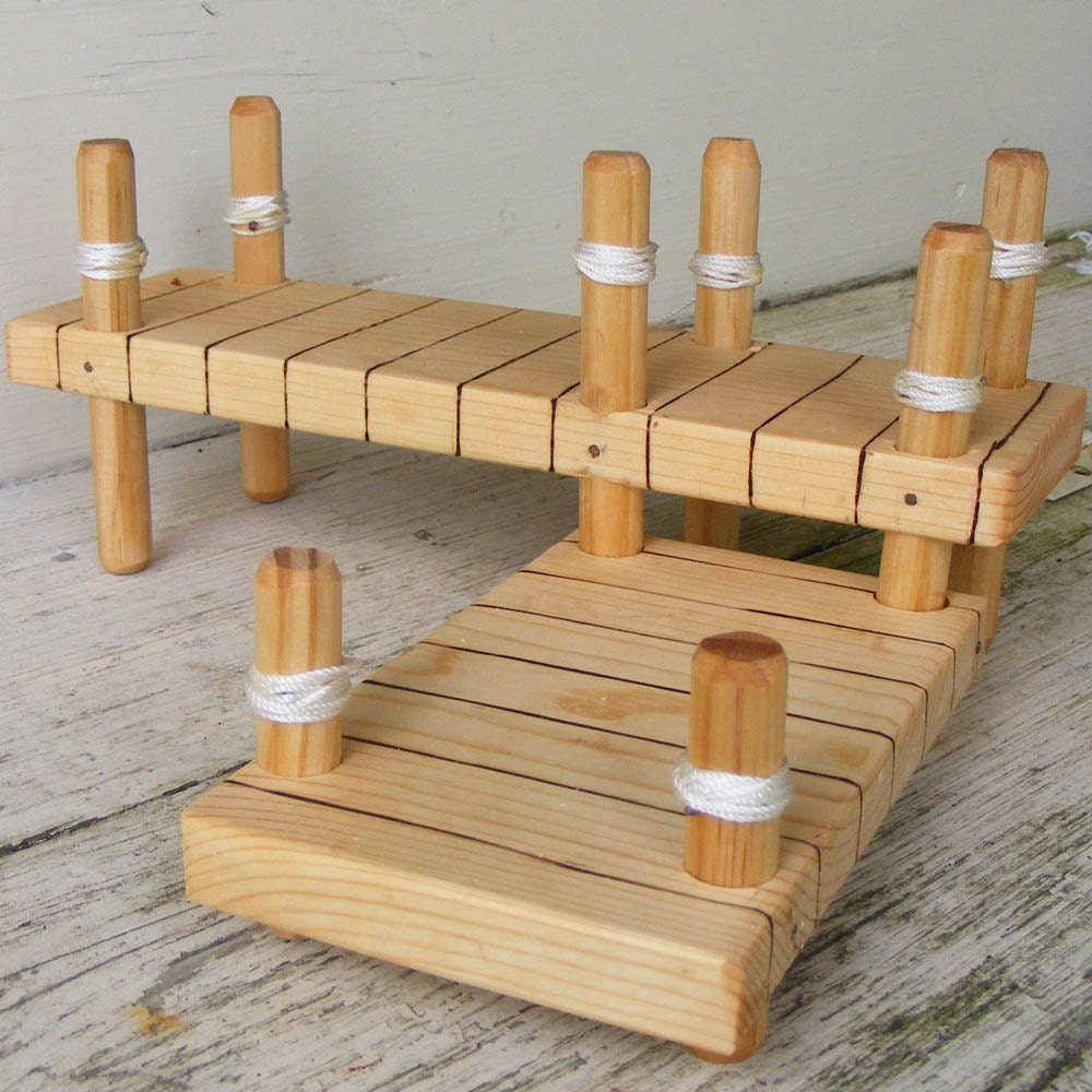 Wooden Toy Boat Dock by ToyBoatWorks on Etsy