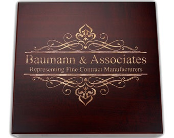 Personalized Humidor, The Squire 20 Cigar Cherry Desktop Humidor, Groomsman Gift