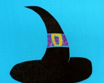 Classic Witch Hat Quilt Applique Pattern Design