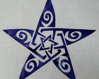Easy Celtic Star Knot 2 Quilt Applique Pattern Design