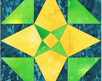 Little Rock Star Paper Piece Foundation Quilting Block Pattern