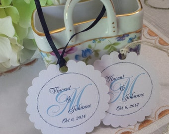 Personalized Favor Tags 2 1/2'', Wedding tags, Thank You tags, Favor tags, Gift tags, Bridal Shower Favor Tags,