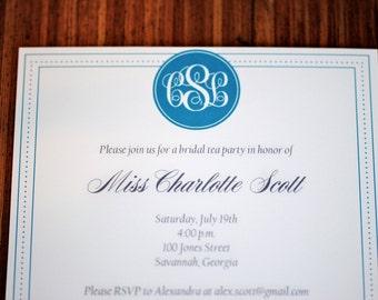 Bridal Shower Invitation - Bridal Luncheon Invitation - Bachelorette Party Invitation