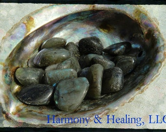 Labradorite for transformation, magic, self-mastery, and the new moon