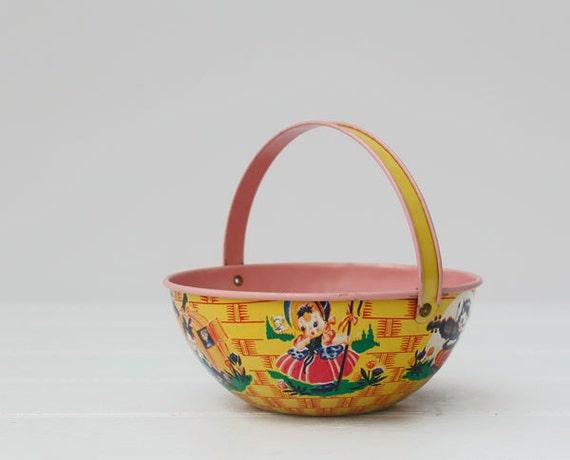 Vintage J. Chein Tin Easter Basket Chein Tin by RD1Vintage ...