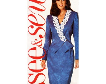 Butterick Sewing Pattern 5768 Misses' Top and Skirt  Size:  A  6-8-10  Uncut