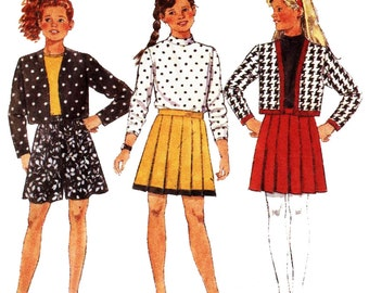 Butterick Sewing Pattern 6368 Girls' Jacket, Top, Skirt, Shorts  Size:  7-8-10  Used