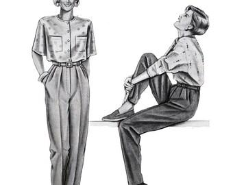 Stretch & Sew Sewing Pattern 765 Pants  Size  32-48  Uncut