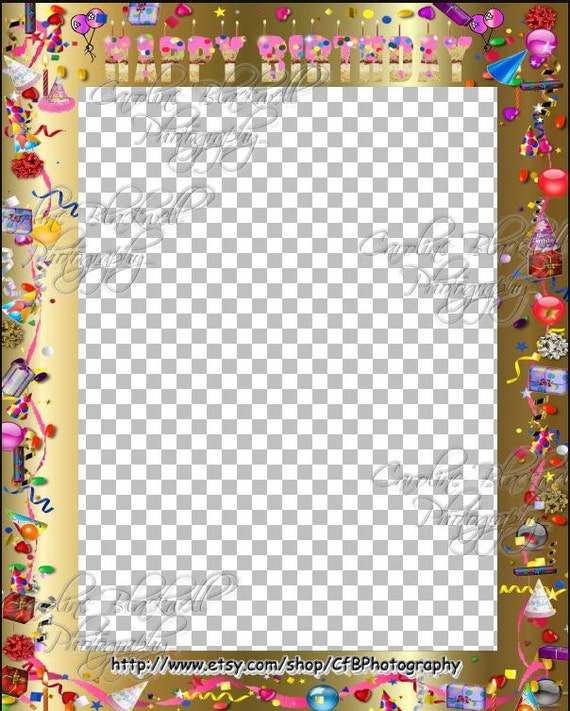 ... Birthday Frames For Boys And Girls Png Files Photoshop Layers