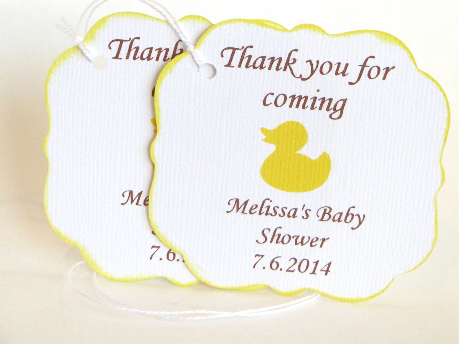 rubber ducky baby shower thank you tags rubber duck baby