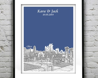 Chico California Wedding Guest Book Guestbook Poster Print -CA