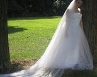 1 Tier Cathedral Length Wedding Veil
