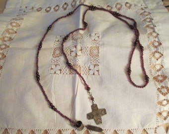 Garnet Native Indian motiff Necklace
