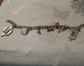 ON SALE  Charm Bracelet from the 1950's