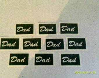 Vader word stencils voor etsen op glas Fathers Day papa hobby ambacht presenteren cadeau glaswerk