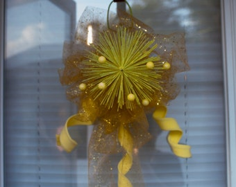 Sparkly Yellow Gold Wall Hanging
