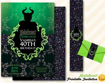 Maleficent Invitation and belly band