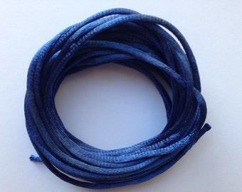 2mm Navy Blue Satin Rattail Nylon Cord Size 2mm Length 13yds per bundle