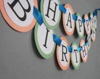 Happy birthday banner. (Customize me)