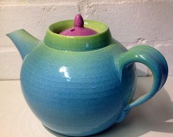 Handmade earthenware Teapot.